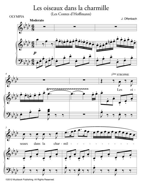 Partition iPad : Les oiseaux dans la charmille - Piano et