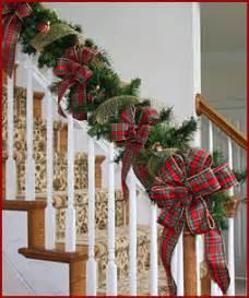 Garland For Stair Banister Christmas Ribbon Amp Bows Holiday Ribbon Bows Trim Wine