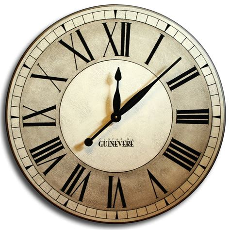 large wall clock 24in cambridge tan or linen by theclockhouse our oxford linen clock is completely hand painted comes