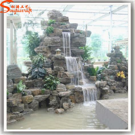 landscape indoor wall home decoration waterfall fiberglass