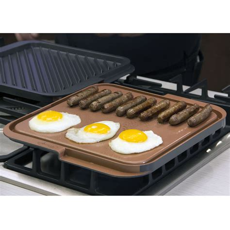 grille tv free gotham steel nonstick copper grill and griddle as
