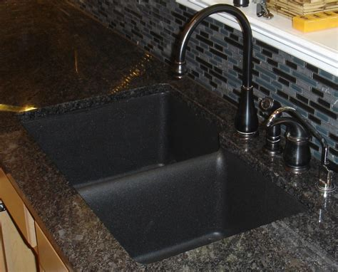 Decor Kitchen Ideas by Composite Granite Sinks Black Cablecarchic Interior
