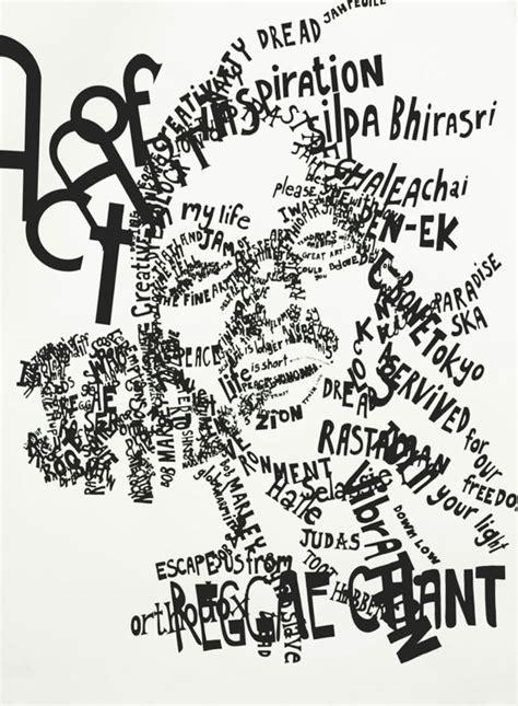 typography collage the most unique typographic masterpieces