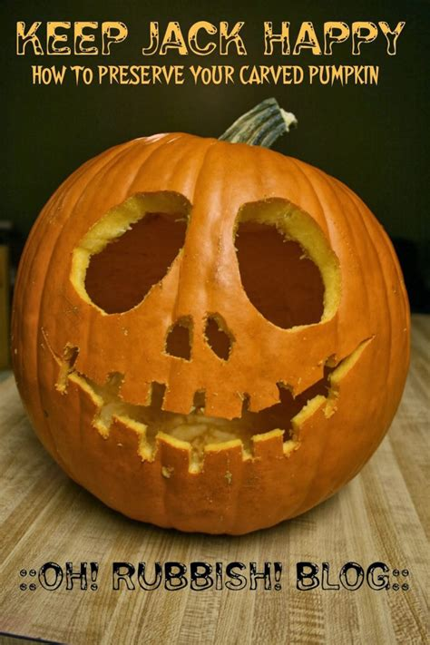 keep jack happy how to preserve your carved pumpkin