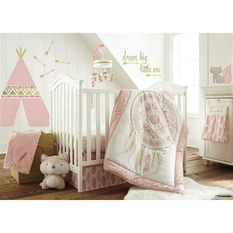 baby nursery bedding set levtex baby feather 5 crib bedding set coral ebay