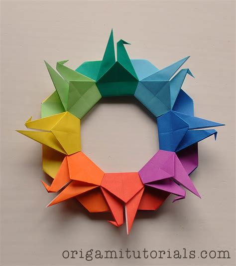 origami tutorial videos origami crane wreath tutorial origami tutorials