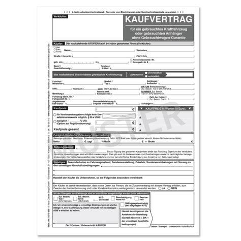 Motorrad Ohne Kaufvertrag Anmelden by Kaufvertrag Kfz F 252 R Gebrauchtwagen Ohne Gw Garantie Wei 223