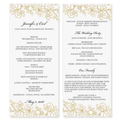 Wedding Program Template Download By Diyweddingtemplates On Etsy Microsoft Word Wedding Program Templates