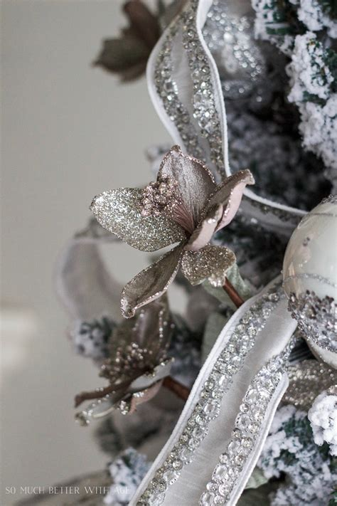 glittered and jewelled christmas tree giveaway so much better with age