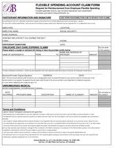 Photos of Your Spending Account Claim Form