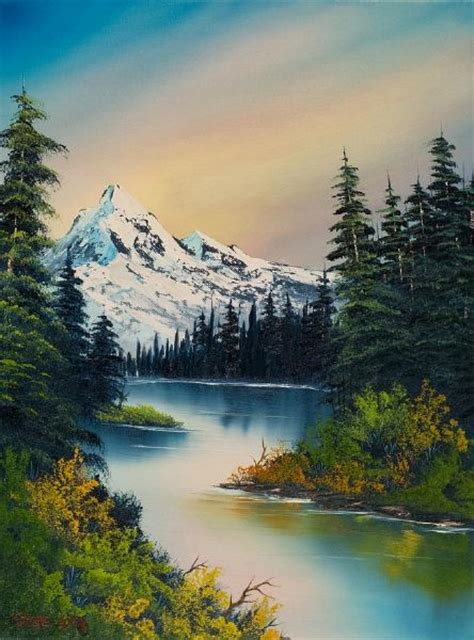 bob ross original painting for sale prints bob ross peaceful reflections paintings for sale bob ross
