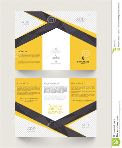 two page brochure template stylish business brochure or template stock illustration