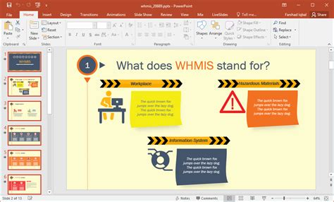 Animated Whmis Powerpoint Template Singing Bee Powerpoint Template