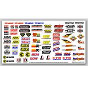 Racing Sponsor Logos  Traxxas 9 Vinyl Sticker Sheet
