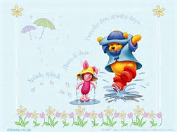 Pic of Rainy Days Winnie the Pooh and Piglet