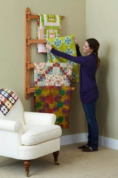 swing arm wall mounted quilt rack quilty stuff