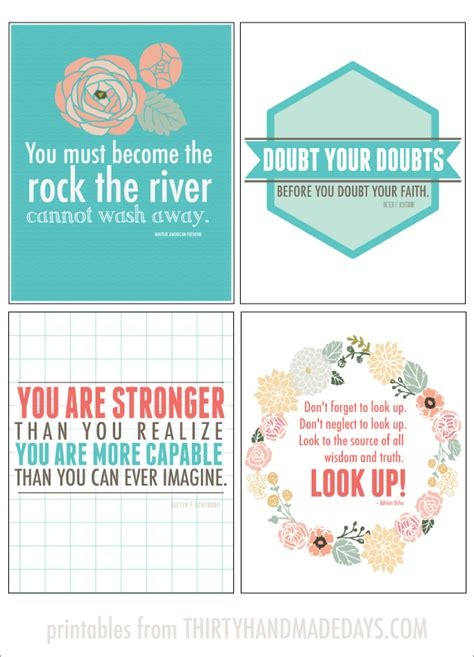 printable positive inspirational quotes printable inspirational quotes quotesgram