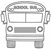 School Bus Front Coloring Page Back To
