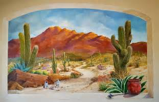 Desert Wall Mural A Walk In The Desert Wall Mural Painting By Marilyn Smith