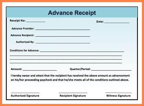 4 cash receiving slip format salary slip