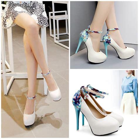Sepatu Wanita Heel 12cm jual shh3335 white sepatu heels 12cm grosirimpor