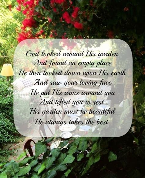 God Looked Around His Garden by God Looked Around His Garden And Found An Empty Place He