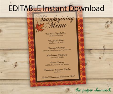 free editable menu templates thanksgiving menu template 27 free psd eps format