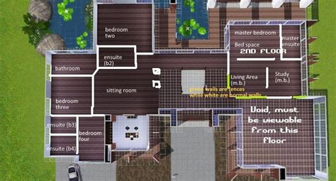 floor plans for sims 3 modern house floor plans sims new mansion house plans