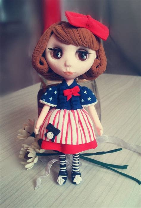 handmade clay doll   mold  clay character home