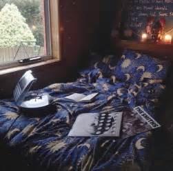 Bohemian Comforter Dress Moon Stars Blue Sleep Bedding Bedroom Yellow