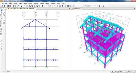 tutorial sap2000 v14 pdf sap2000 villa project draw columns beams slabs and roofs