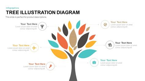 tree diagram template tree illustration diagram powerpoint and keynote template