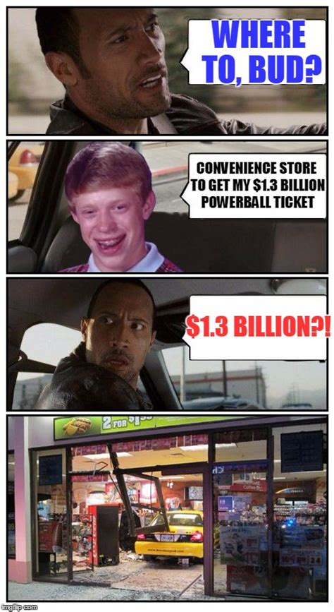 Convenience Store Meme - bad luck brian disaster taxi runs into convenience store