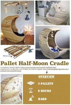 Half Moon Pallet Baby Cradle - half moon pallet baby cradle diy tutorial pallet ideas