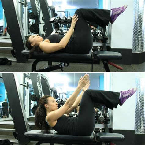 ab exercises   weight bench popsugar fitness