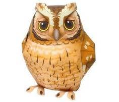 Papermau Barn Owl Miniature Paper - owl paper crafts animal paper model barn owl free