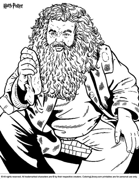 harry potter hagrid coloring pages harry potter coloring picture