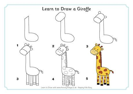 how to draw animals learn to draw for step by step drawing how to draw books for books learn to draw a giraffe