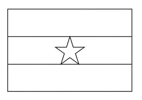 national flag of ghana to color coloring pages