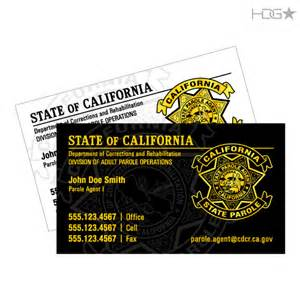 business cards california california parole dapo business cards hdg tactical