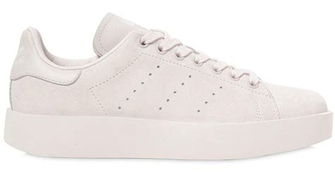 Adidas Originals Stan Smith Clean Leather Trainers S79465 Grey Shoes 3 lyst adidas originals stan smith bold leather sneakers in pink