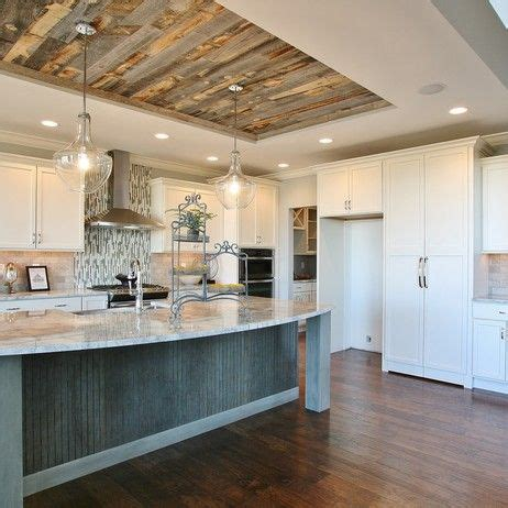 wood ceiling kitchen reclaimed weathered wood by stikwood wall panels
