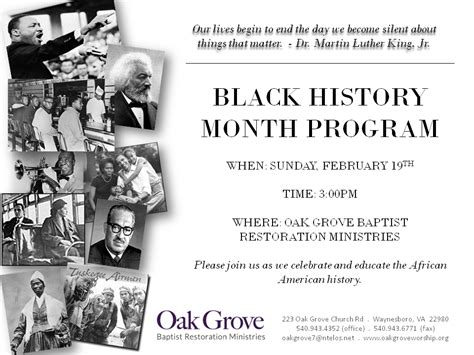 black history church programs
