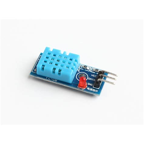 Dht11 Sensor Temperature And Humidity With Breadboard dht11 temperature and humidity sensor
