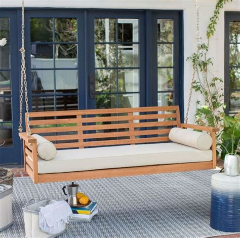 swing bed cushions 25 best ideas about front porch swings on pinterest