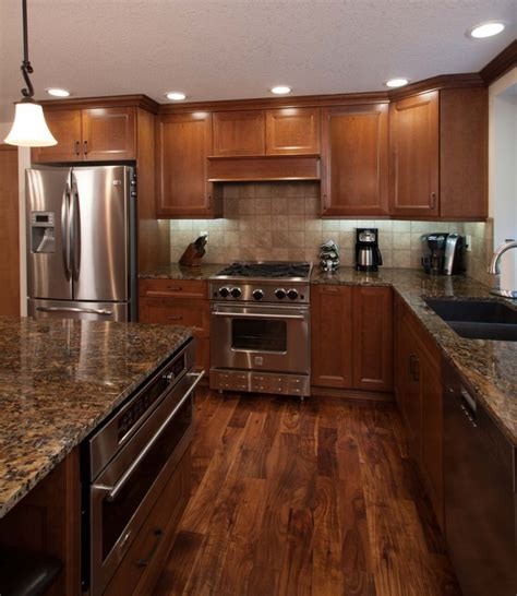 Which Hardwood Stain Go With Cabinet Kitchen - tile or wooden floor in kitchen morespoons e9aef6a18d65