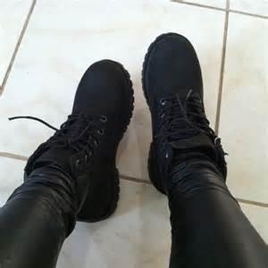 But also black leather pants black on black on black