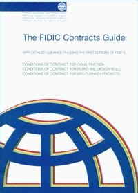 plant and design build contract 1st ed 1999 yellow book pdf fidic contracts guide 1st edition 2000 engineering book