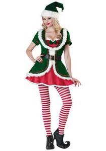 Ladies sexy holiday honey costume womens elf costumes