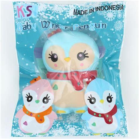Squishy Ksi Jumbo Penguin blue baby winter penguin scented squishy kawaii ksi